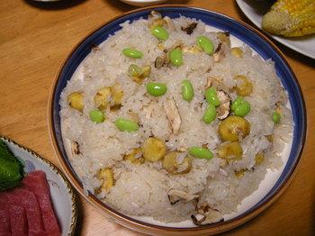 松茸と栗のおこわ1.JPG