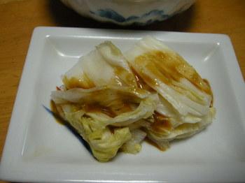 白菜漬けワサビ醤油.JPG