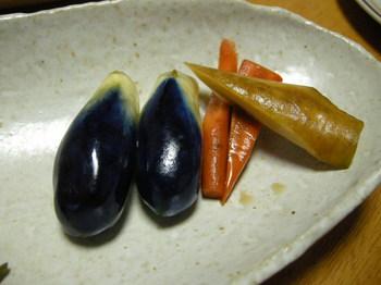 茄子漬と人参の醤油漬.JPG